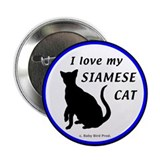 Siamese Cats Button