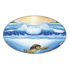 turtles world large Decal