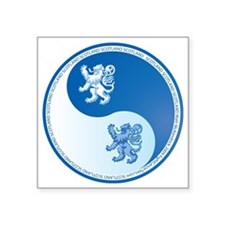 "Scotland-Ying-Yang-blue Square Sticker 3"" x 3"""