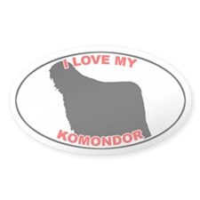 Komondor Oval Decal