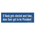 Bush/Gore Bumpersticker