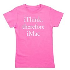 iThink therefore iMac Retro Girl's Tee
