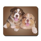 Unique Red tri australian shepherd Mousepad