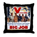 Same Big Job Throw Pillow