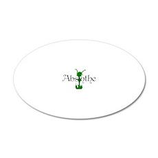 2-absinthegreenlady 20x12 Oval Wall Decal