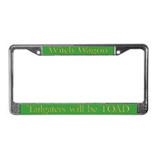 Witch Wagon License Plate Frame