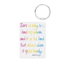 One Kind of Human Quote Keychains