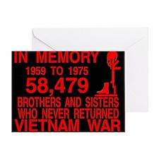 InMemory58479Red Greeting Card