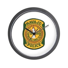 Navajo Tribal Police Wall Clock