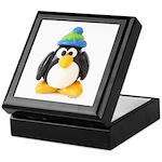 Clay Green Beanie Penguin Keepsake Box