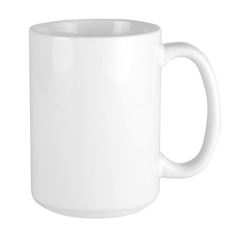 White with Black/Red Large Mug