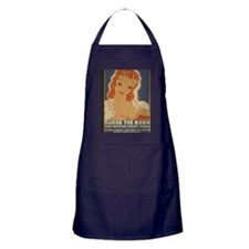 ART WPA shirt Nurse the baby Apron (dark)