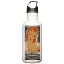 ART mini poster Nurse  Water Bottle