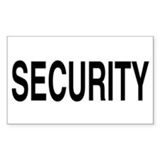 SECURITY Rectangle Decal