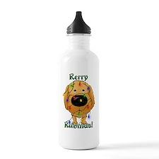 2-RedGoldenLightsInsid Water Bottle