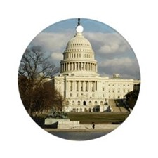 Capital Building Ornament (Round)