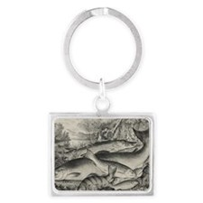 game-fish-etching-cropped Landscape Keychain