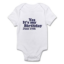 June 17 Birthday Infant Bodysuit