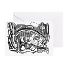 bass-engraving Greeting Card
