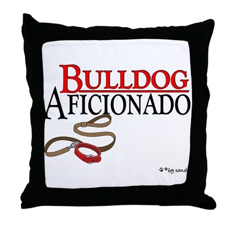Bulldog Aficionado 2 Throw Pillow