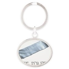 duck tape Oval Keychain