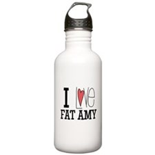 I Love Fat Amy Water Bottle