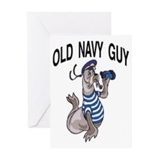 2-OLD NAVY GUY Greeting Card