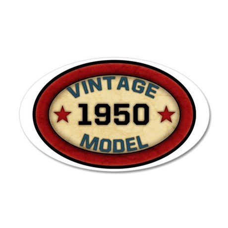 vintage-model-1950 35x21 Oval Wall Decal