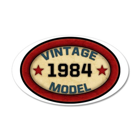 vintage-model-1984 35x21 Oval Wall Decal