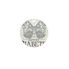 Diabetes-Butterfly Mini Button