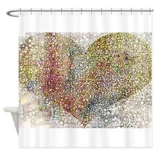heart particles Shower Curtain
