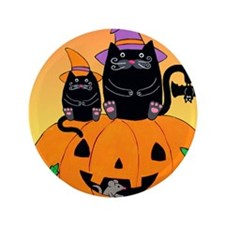 "hllwn-2cats-pmkn-bat_Xbrdr 3.5"" Button"