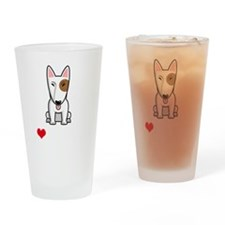 I-Love-My-Bully-dog-dark Drinking Glass