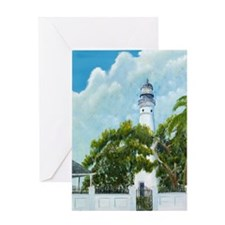 Key West Light tall Greeting Card