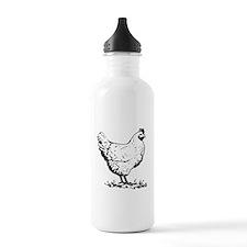 Chicken Sketch Sports Water Bottle