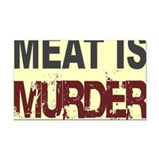 Meat Is Murder-yellow square Rectangle Car Magnet