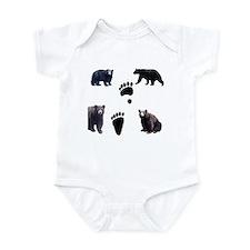 Black Bears and Tracks Infant Bodysuit