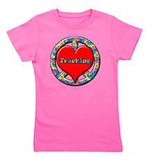 peace heart and Teaching copy Girl's Tee