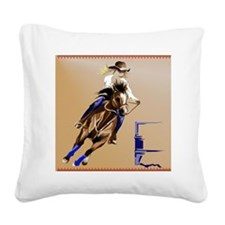 Barrel Horse_pillow Square Canvas Pillow