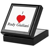 I Love Rudy Giuliani Keepsake Box