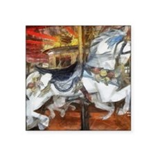 "carousel_9x12_print Square Sticker 3"" x 3"""