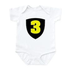 Number 3 Infant Bodysuit