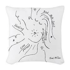 Healing Woven Throw Pillow