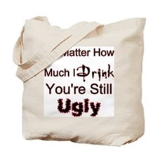 Twisted Imp Drunk and Ugly Tote Bag