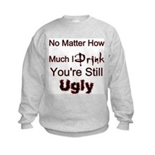 Twisted Imp Drunk and Ugly Sweatshirt