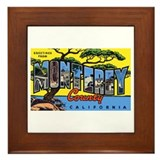 Monterey County California Framed Tile