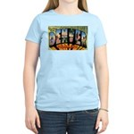 Denver Colorado Greetings (Front) Women's Pink T-S