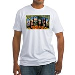 Denver Colorado Greetings Fitted T-Shirt
