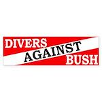 Divers Against Bush Bumper Sticker