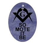 Masonic So Mote It Be Oval Ornament